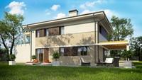 Проект красивого загородного коттеджа общей площадью 178 кв.м.