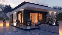 Проект одноэтажного дома из газобетона площадью 209 кв.м.