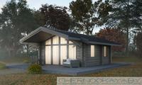 Компактный дачный домик площадью 40 кв. м