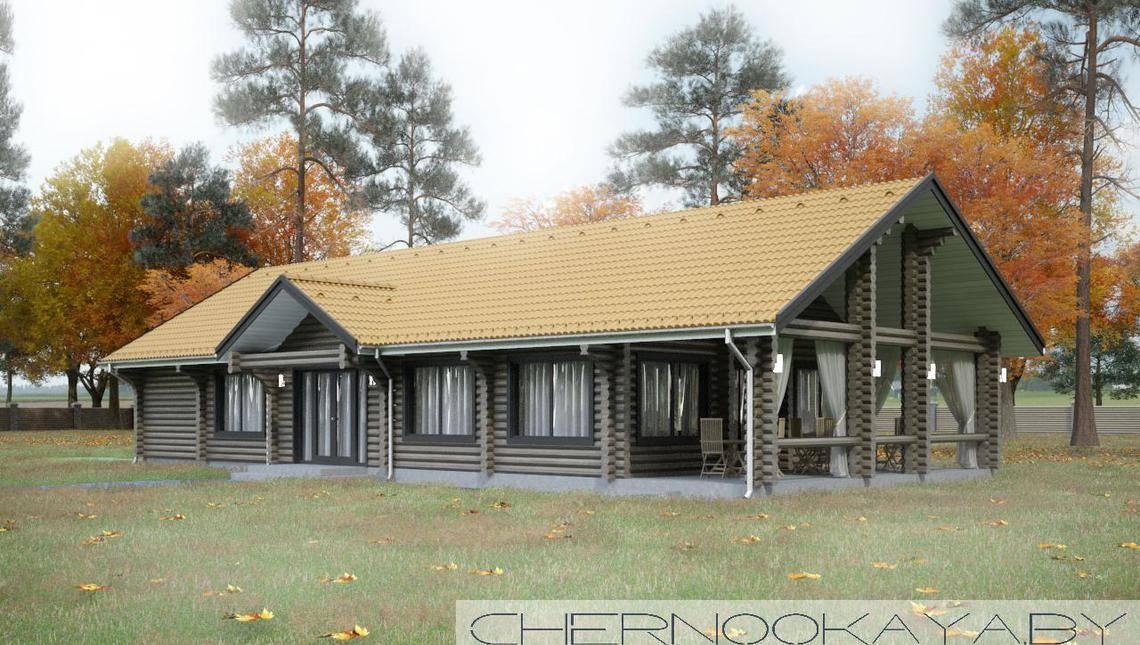 Современный дом из деревянного бруса для торжественных встреч