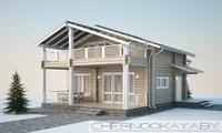Загородный дом из профильного бруса общей площадью 130 м2