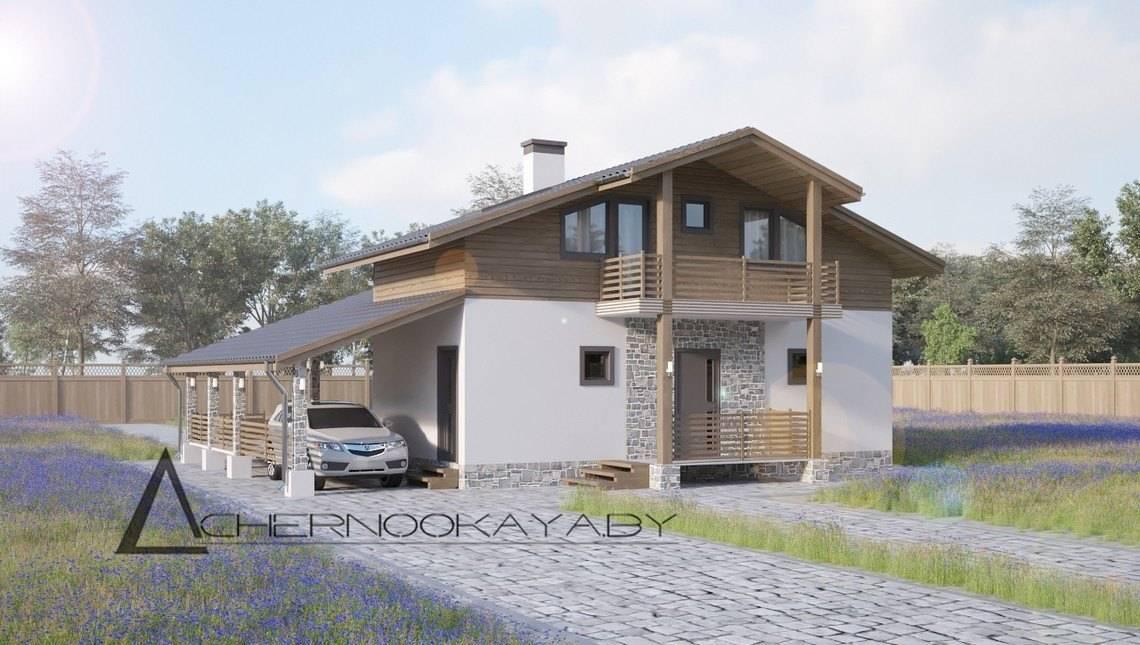 Красивый загородный дом с парной и просторной зоной отдыха