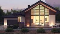 Проект одноэтажного дома в современном стиле