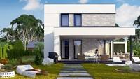 План современного коттеджа на 133 кв. м в стиле минимализма