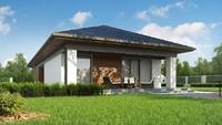 Проект компактного дома площадью 116 кв. для узкого участка