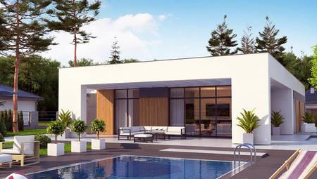 Планировка стильного одноэтажного дома на 171 кв. м с гаражом