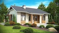 План небольшого дома на 75 кв. м с привлекательным экстерьером