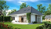 Проект дачного дома с мансардой и дополнительной спальней