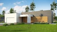 Проект современного коттеджа площадью 180 кв. м в духе минимализма