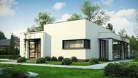 Проект белоснежного коттеджа площадью 102 кв. м в стиле минимализма