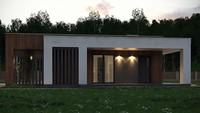 Проект симпатичного коттеджа площадью 103 кв. м для молодой семьи