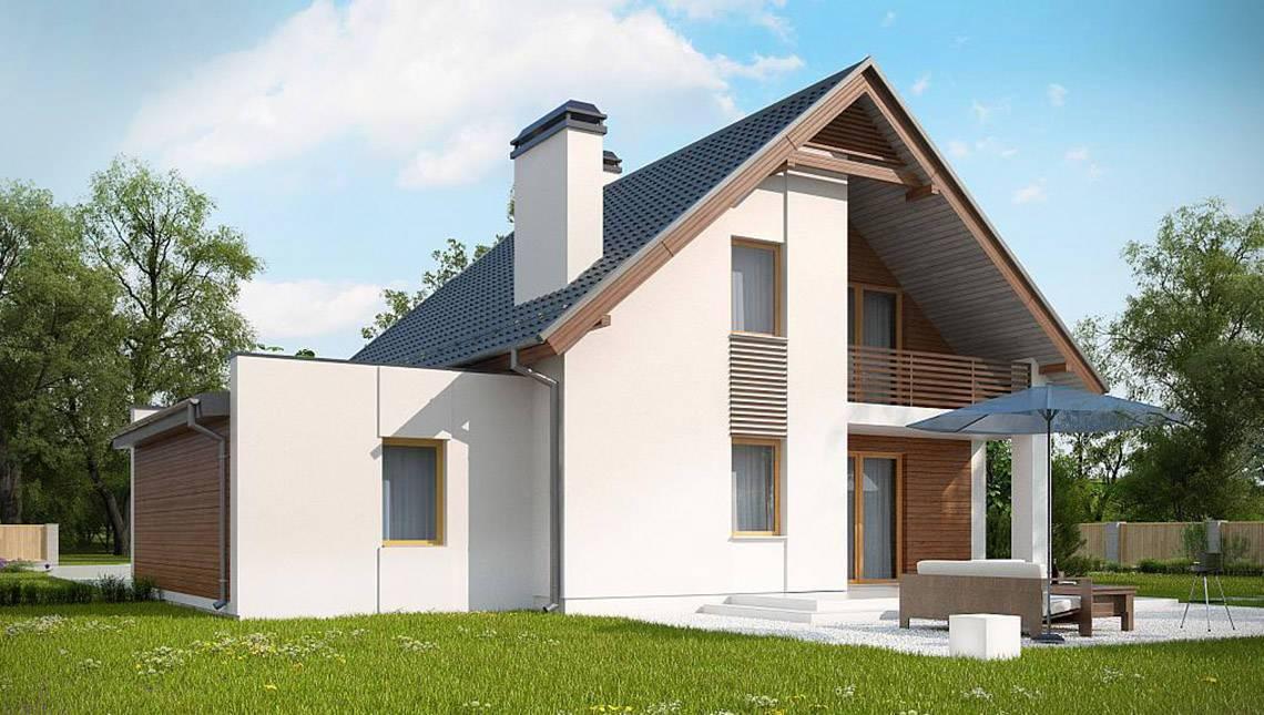 Планировка двухэтажного дома на 184 кв. м с четырьмя спальнями