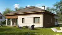 План стильного особняка на 259 кв. м с пятью спальнями и тремя санузлами
