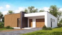 Планировка красивого дома на 148 кв. м с тремя спальнями и гаражом