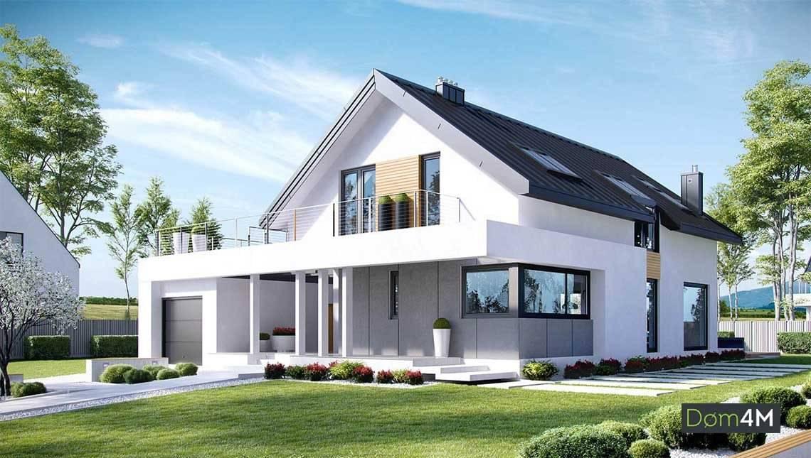 Комфортный стильный дом для узкого участка