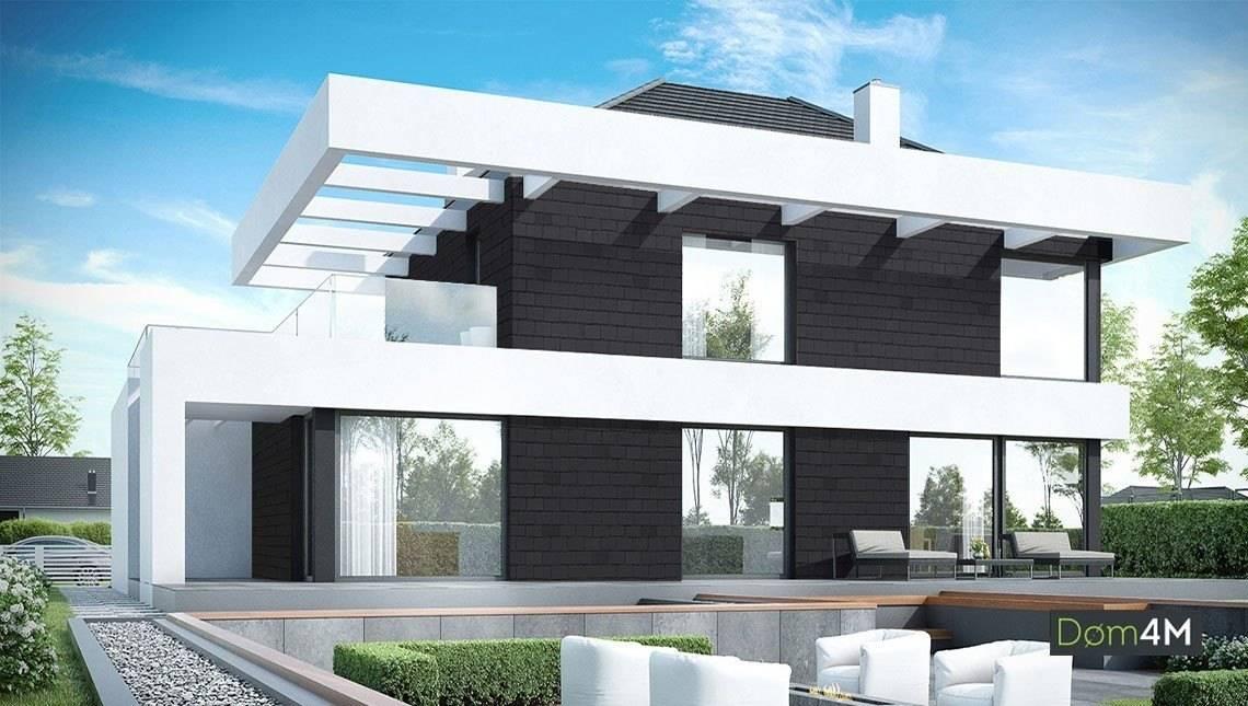 Современный жилой дом на два этажа с просторными верандами