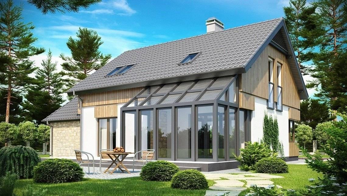 Проект дома с застеклённой террасой