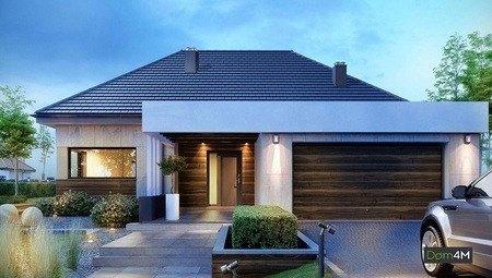 Красивый одноэтажный особняк для дружной семьи