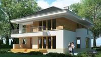 Необычный проект загородного двухэтажного дома