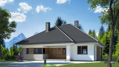 Одноэтажный жилой дом площадью 170 м2