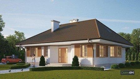 Красивый жилой дом с эркерами