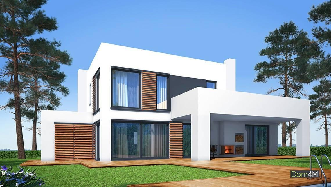 Двухэтажный особняк в стиле минимализма
