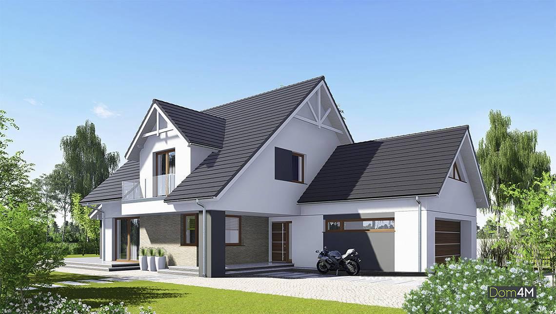 Величественный жилой дом с гаражом на два автомобиля