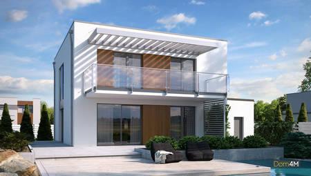 Роскошный двухэтажный дом для загородного участка