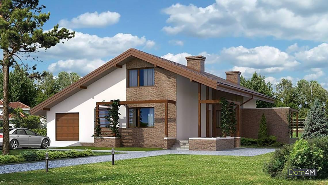 Величественный жилой дом с мансардой