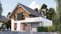 Проект современного жилого дома с гаражом