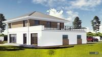 Красивый двухэтажный дом площадью 200 квадратов