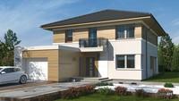 Привлекательный загородный жилой дом на два этажа