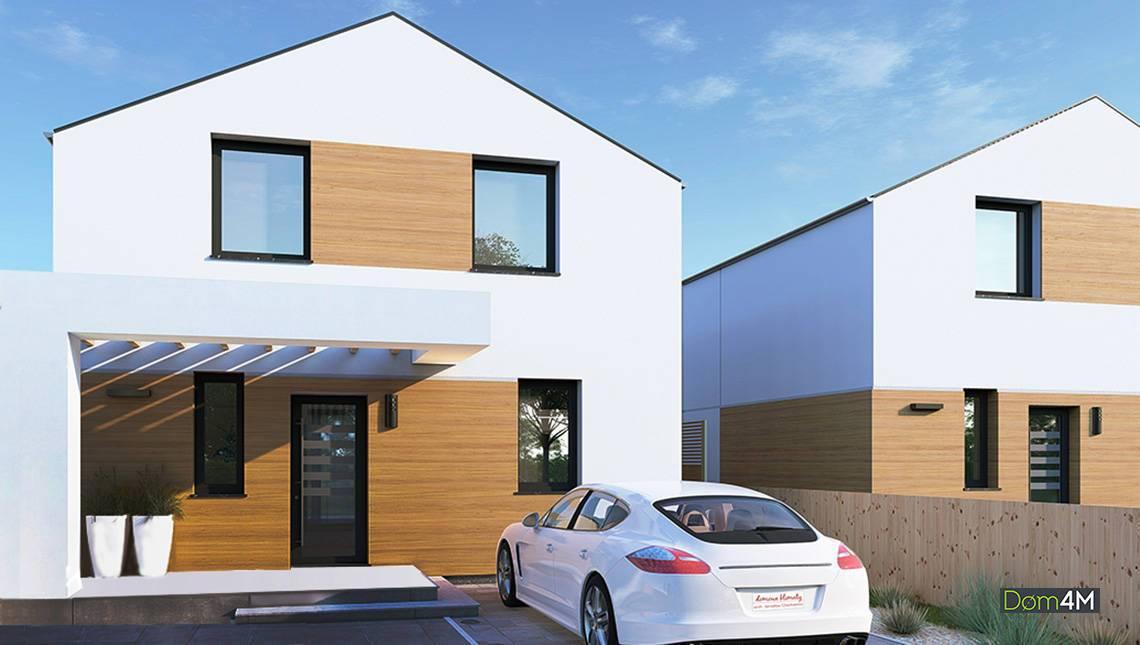 Проект двухэтажного коттеджа с тремя спальнями