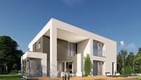 Красивый жилой дом с величественными колоннами