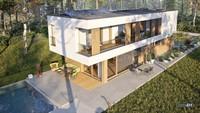 Современный красивый дом в стиле минимализма