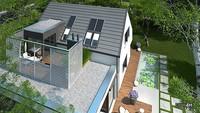 Двухэтажный жилой дом с восхитительной террасой