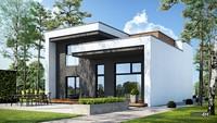 Стильный современный двухэтажный коттедж