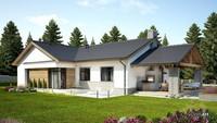 Красивый одноэтажный дом жилой площадью более 100 квадратов