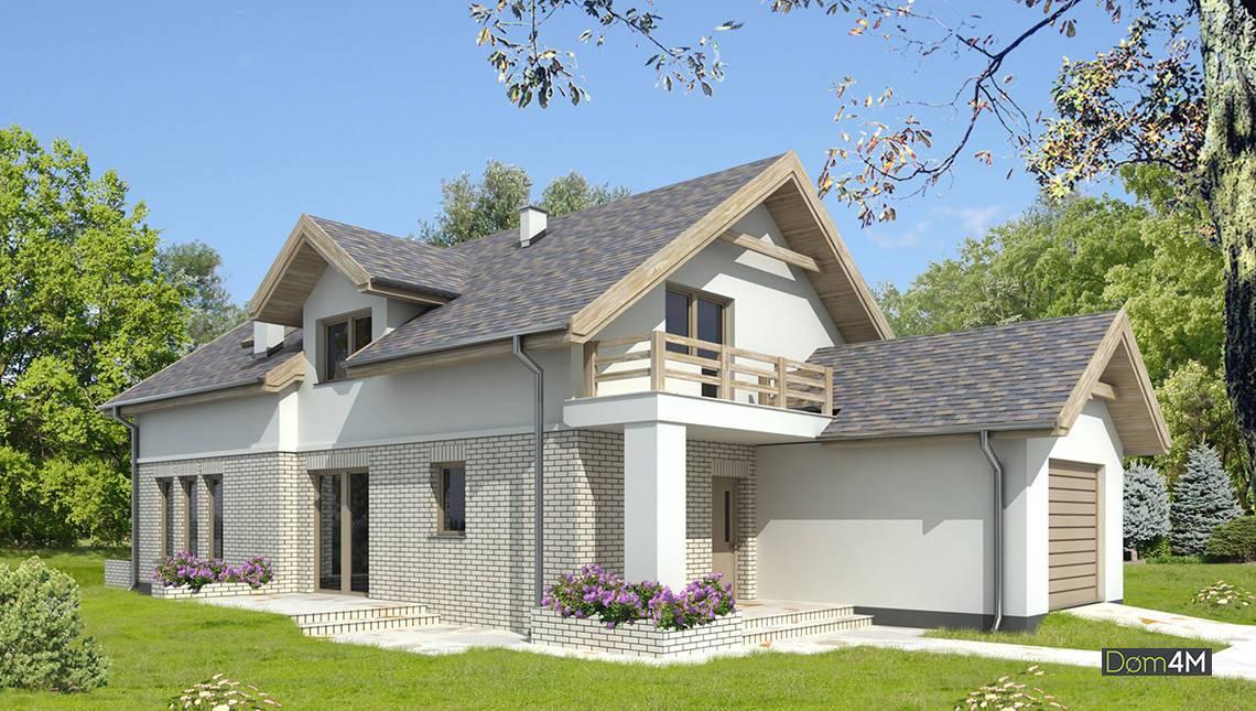 Роскошный светлый дом для узкого участка