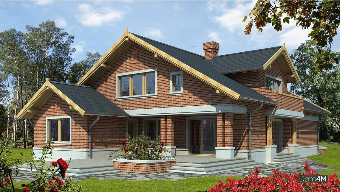 Фешенебельный двухэтажный дом с камином в центре гостиной
