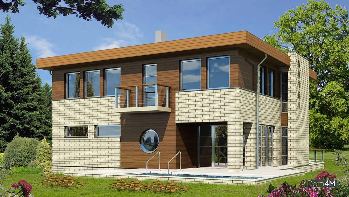 Стильный современный дом на четыре спальни