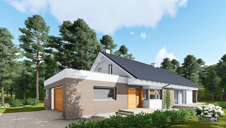 Проект жилого дома для узкого участка