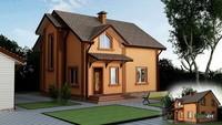 Проект двухэтажного дома с тремя спальнями