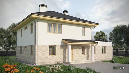 Проект красивого двухэтажного дома площадью 120 кв. м