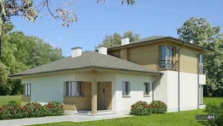 Красивый дом в благородных оттенках