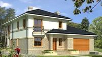 План симпатичного дома с уникальным экстерьером