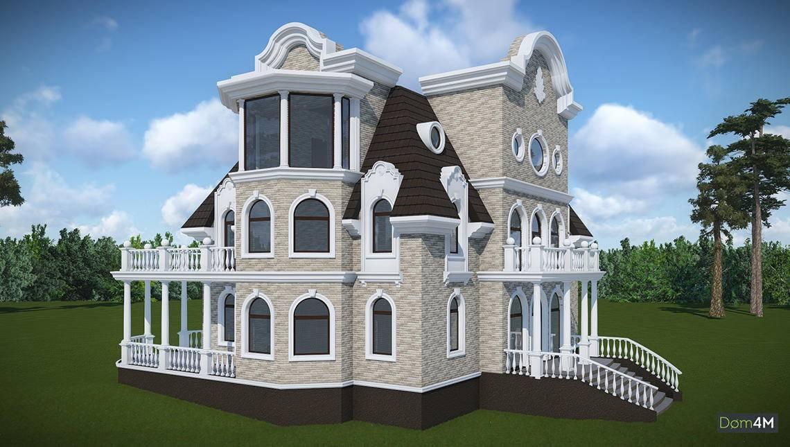 Проект четырехэтажного особняка в традициях французского классицизма
