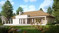 Симпатичный проект одноэтажного классического дома