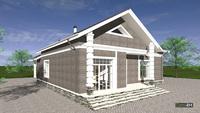 Проект роскошного особняка в английском стиле общей площадью 271 кв. м, жилой 141 кв. м