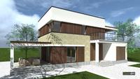 Проект стильного дома в духе минимализма общей площадью 168 кв. м, жилой 69 кв. м